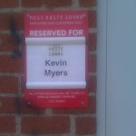 Kevin Myers The Newest Pledge Parking Spot